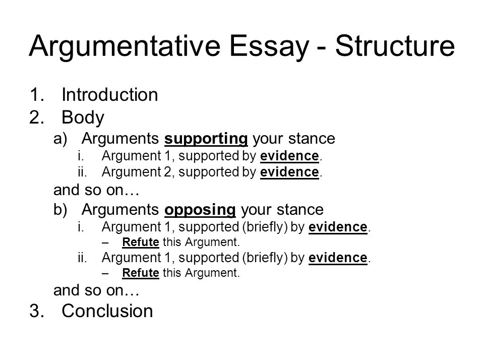 How do i write an argumentative essay