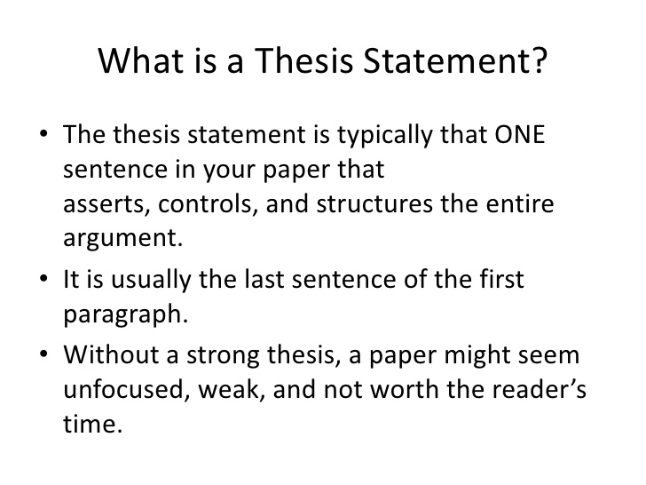 Scientific thesis