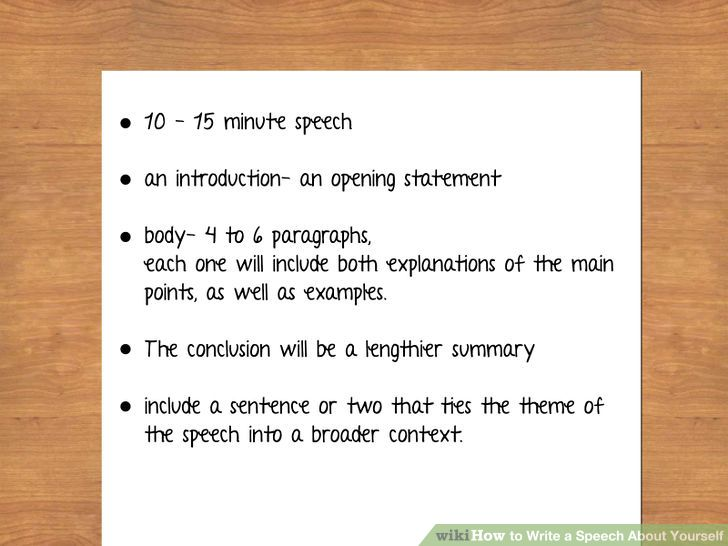 how to write a 4 minute speech