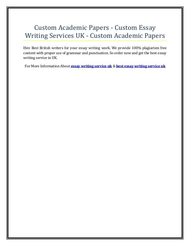 High quality custom essay writing service